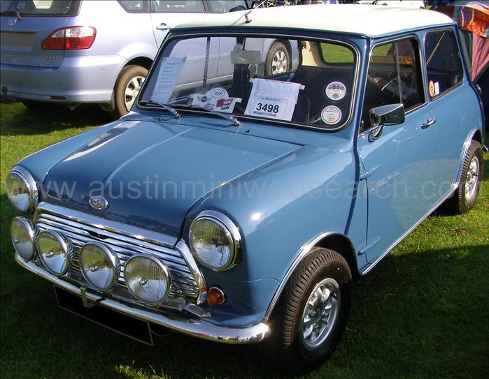 Austin Mini Color Panel Blue